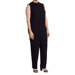 Eileen Fisher Viscose Jersey Mock Neck Jumpsuit